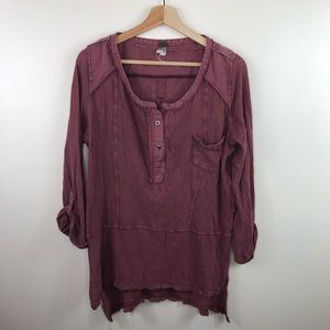 Free people faded long sleeve shirt size xs
